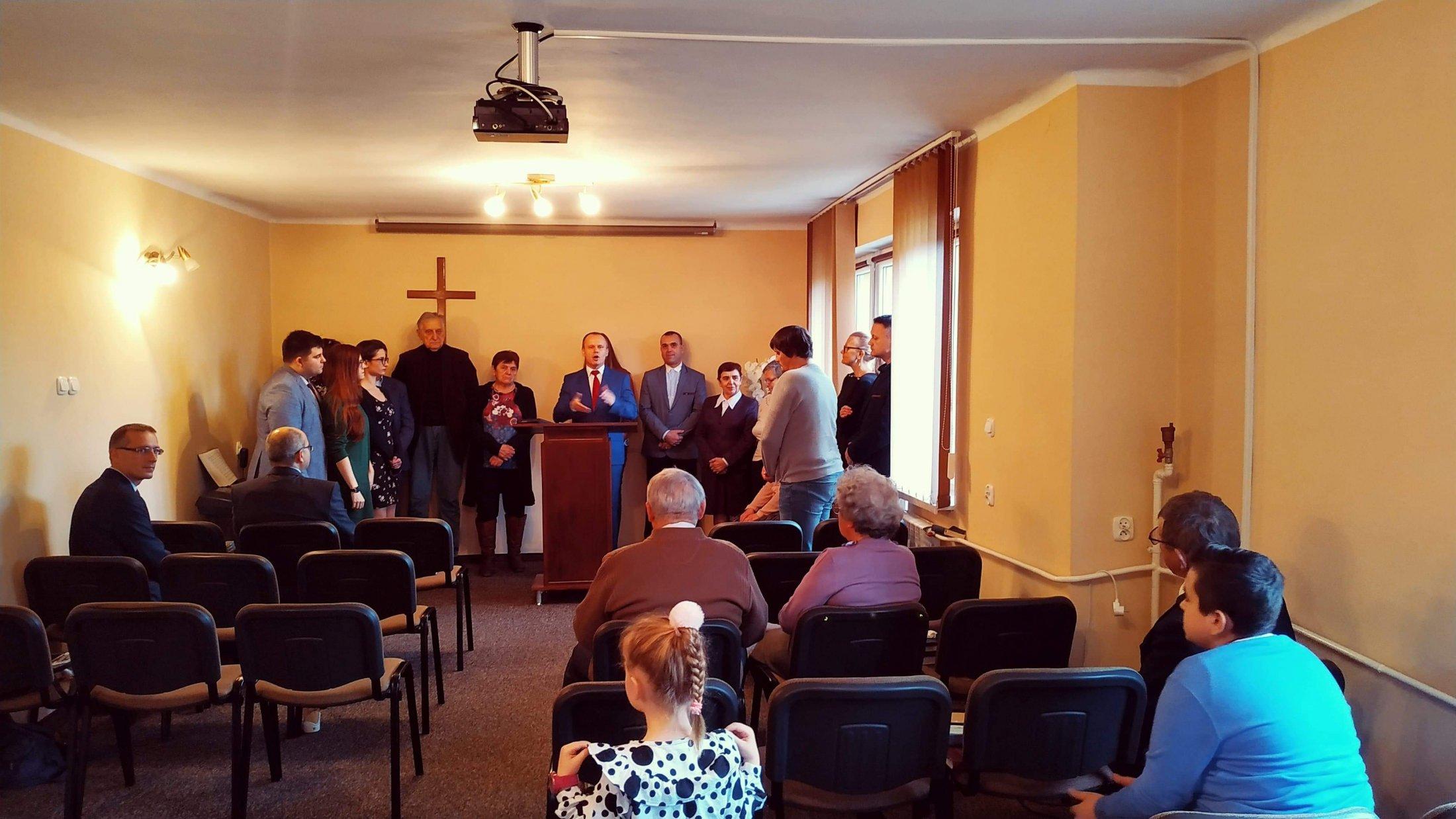 Oficjalne wyczytanie listy członków zboru w Siedlcach